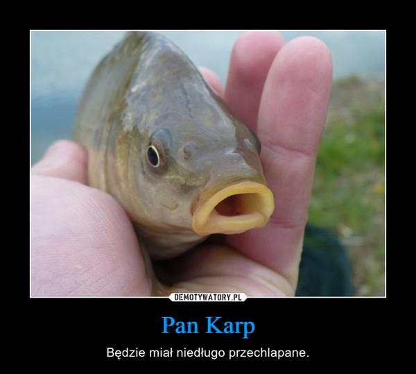 Pan Karp – Będzie miał niedługo przechlapane.
