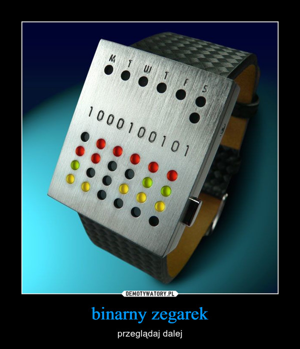 binarny zegarek – przeglądaj dalej
