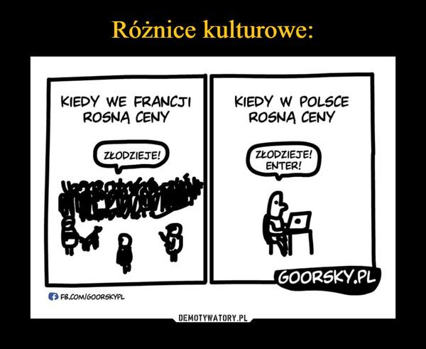 –  'KIEDY WE FRANCJI 'KIEDY W POLSCE ROSNA CENY ROŚNA CENY