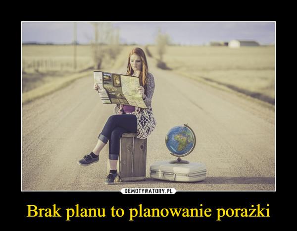 Brak planu to planowanie porażki –