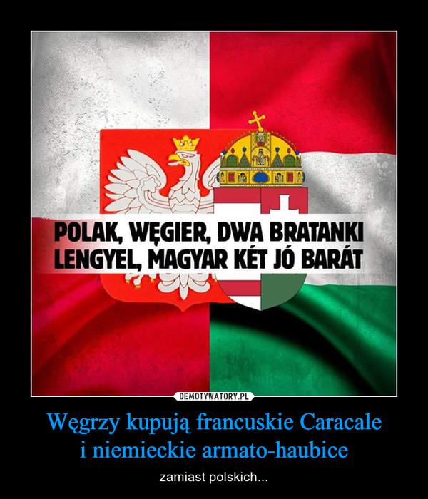 Węgrzy kupują francuskie Caracalei niemieckie armato-haubice – zamiast polskich...