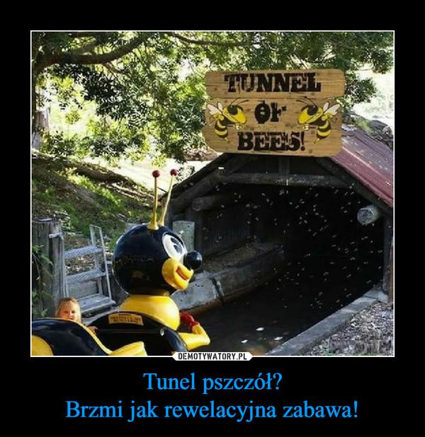 Tunel pszczół?Brzmi jak rewelacyjna zabawa! –
