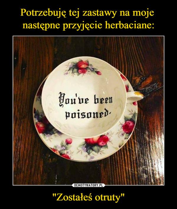 """""""Zostałeś otruty"""" –  You've been poisoned"""