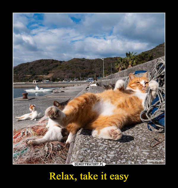 Relax, take it easy –
