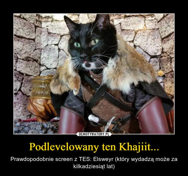 Podlevelowany ten Khajiit... – Prawdopodobnie screen z TES: Elsweyr (który wydadzą może za kilkadziesiąt lat)