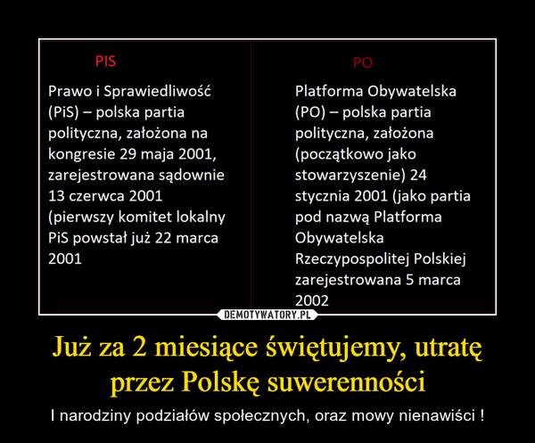 Już za 2 miesiące świętujemy, utratę przez Polskę suwerenności – I narodziny podziałów społecznych, oraz mowy nienawiści !