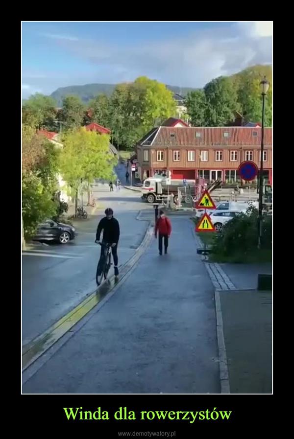 Winda dla rowerzystów –