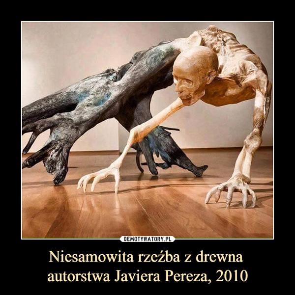 Niesamowita rzeźba z drewna autorstwa Javiera Pereza, 2010 –