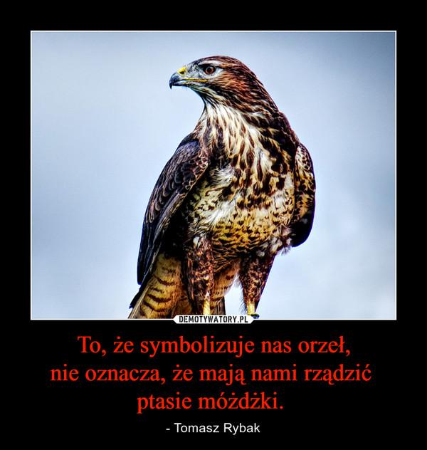 To, żesymbolizuje nas orzeł, nieoznacza, żemają nami rządzić ptasie móżdżki. – - Tomasz Rybak