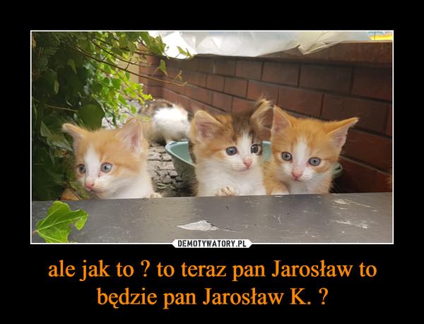 ale jak to ? to teraz pan Jarosław to będzie pan Jarosław K. ? –