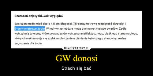 GW donosi