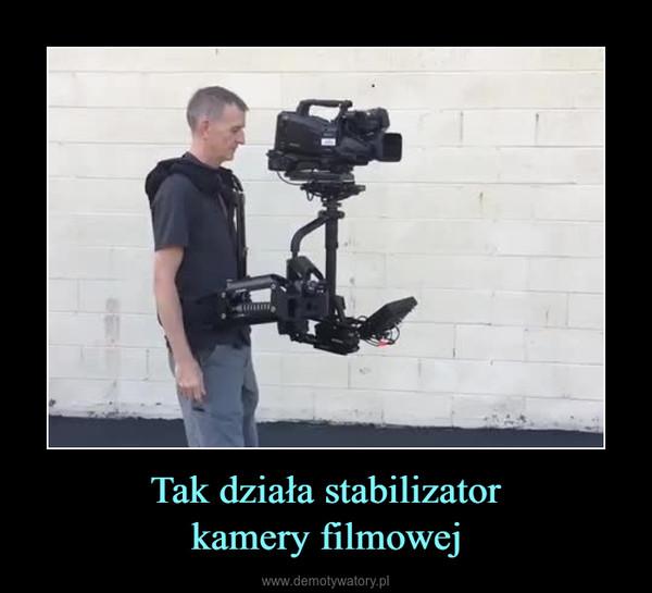 Tak działa stabilizatorkamery filmowej –