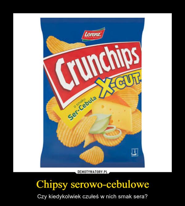 Chipsy serowo-cebulowe – Czy kiedykolwiek czułeś w nich smak sera?