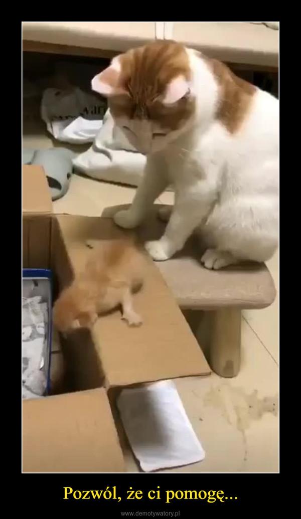 Pozwól, że ci pomogę... –