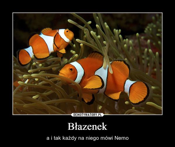 Błazenek – a i tak każdy na niego mówi Nemo