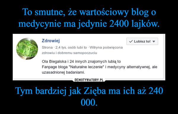 Tym bardziej jak Zięba ma ich aż 240 000. –