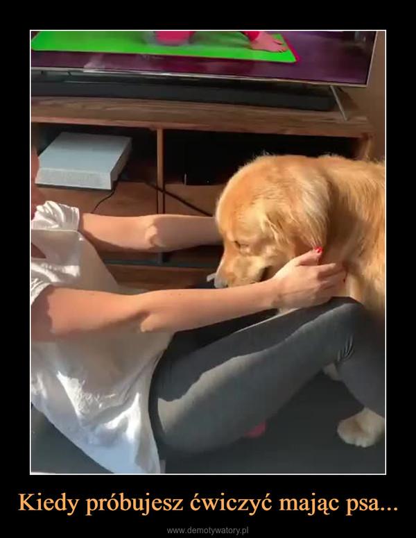 Kiedy próbujesz ćwiczyć mając psa... –