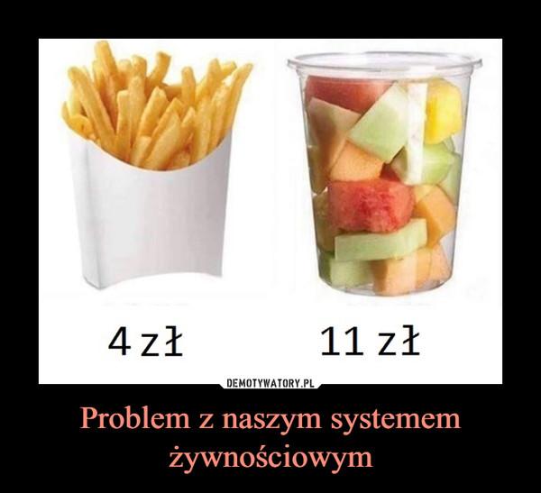 Problem z naszym systemem żywnościowym –