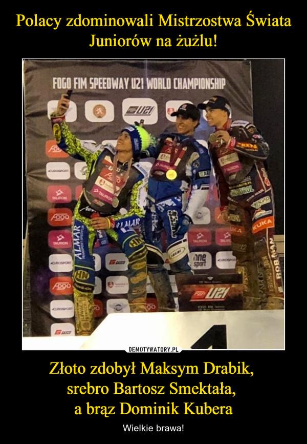 Złoto zdobył Maksym Drabik, srebro Bartosz Smektała, a brąz Dominik Kubera – Wielkie brawa!