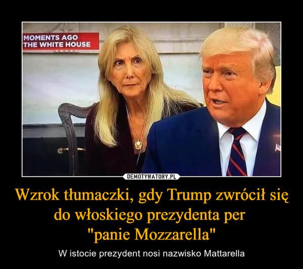 """Wzrok tłumaczki, gdy Trump zwrócił się do włoskiego prezydenta per """"panie Mozzarella"""" – W istocie prezydent nosi nazwisko Mattarella"""