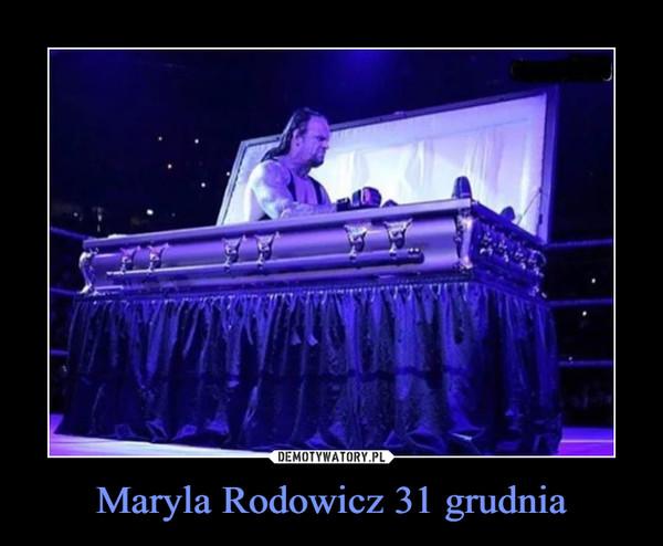 Maryla Rodowicz 31 grudnia –