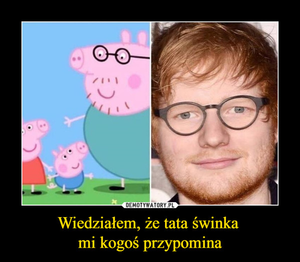 Wiedziałem, że tata świnka mi kogoś przypomina –
