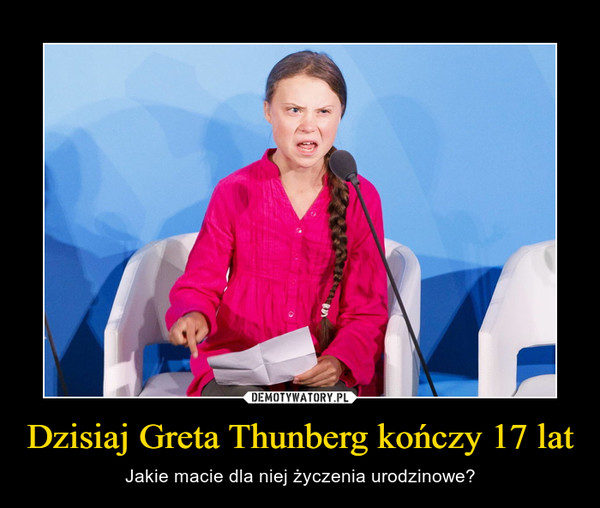 Dzisiaj Greta Thunberg kończy 17 lat – Jakie macie dla niej życzenia urodzinowe?