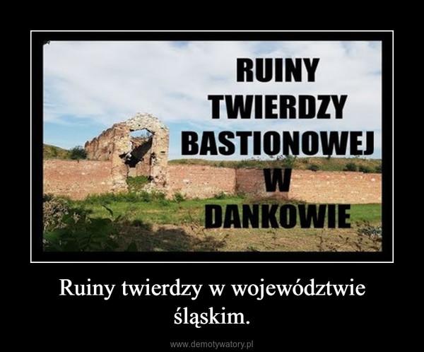 Ruiny twierdzy w województwie śląskim. –