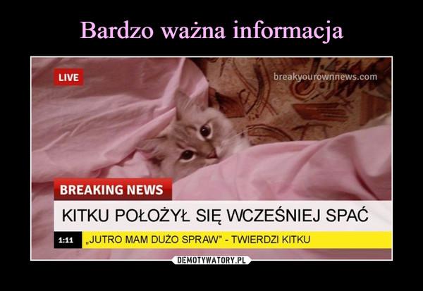 """–  LIVEbreakyourownnews.comBREAKING NEWSKITKU POŁOZYŁ SIĘ WCZEŚNIEJ SPAĆ1:11""""JUTRO MAM DUZO SPRAW"""" - TWIERDZI KITKU"""