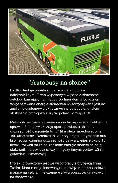 """""""Autobusy na słońce"""""""