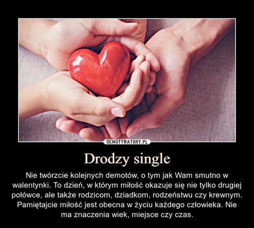 Drodzy single