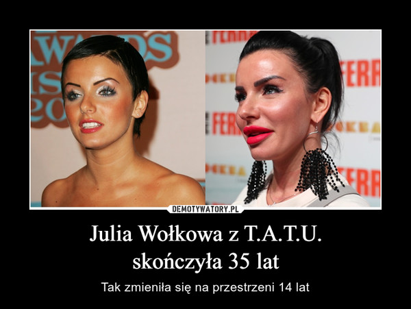 Julia Wołkowa z T.A.T.U.skończyła 35 lat – Tak zmieniła się na przestrzeni 14 lat