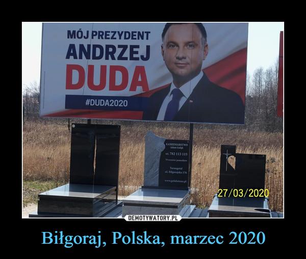 Biłgoraj, Polska, marzec 2020 –
