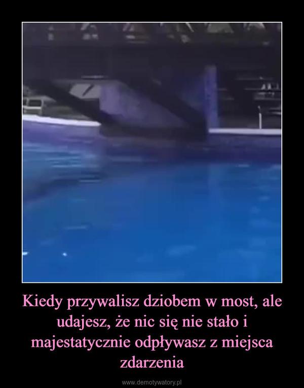 Kiedy przywalisz dziobem w most, ale udajesz, że nic się nie stało i majestatycznie odpływasz z miejsca zdarzenia –