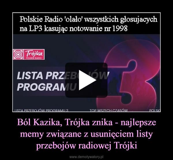 Ból Kazika, Trójka znika - najlepsze memy związane z usunięciem listy przebojów radiowej Trójki –