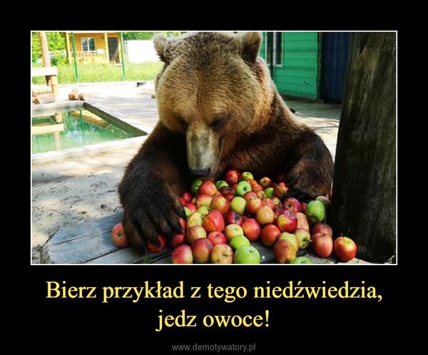 Bierz przykład z tego niedźwiedzia,jedz owoce! –