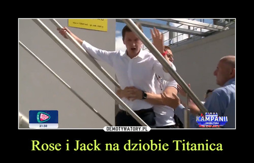 Rose i Jack na dziobie Titanica