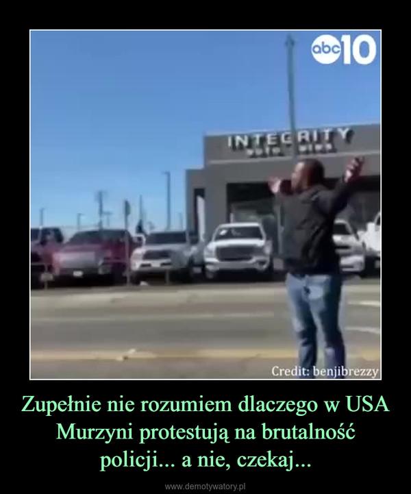Zupełnie nie rozumiem dlaczego w USA Murzyni protestują na brutalność policji... a nie, czekaj... –