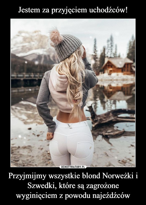 Jestem za przyjęciem uchodźców! Przyjmijmy wszystkie blond Norweżki i Szwedki, które są zagrożone wyginięciem z powodu najeźdźców