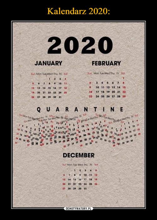 Kalendarz 2020: