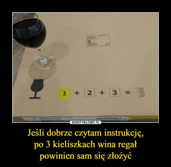 Jeśli dobrze czytam instrukcję,po 3 kieliszkach wina regałpowinien sam się złożyć –