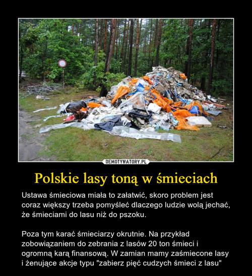 Polskie lasy toną w śmieciach