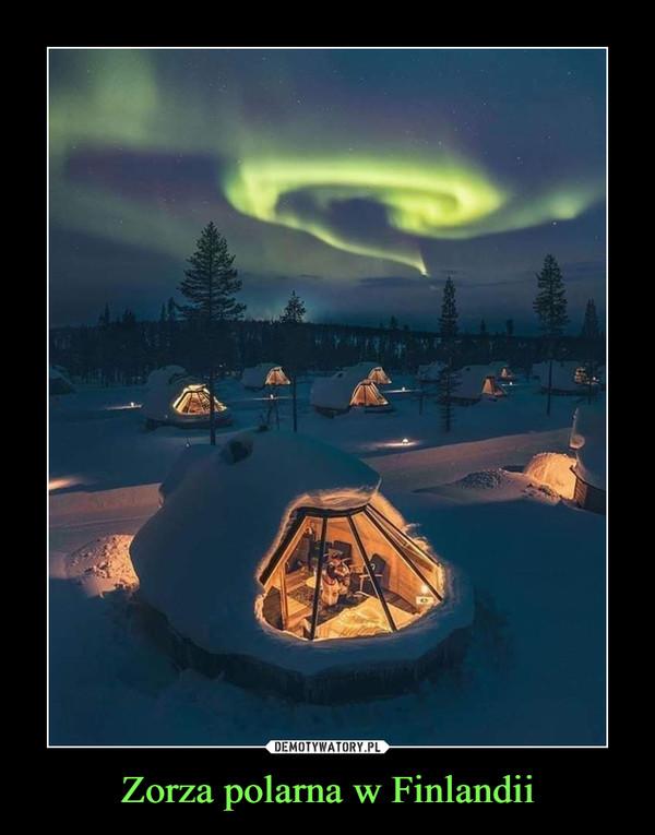 Zorza polarna w Finlandii –