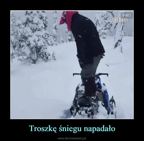 Troszkę śniegu napadało –