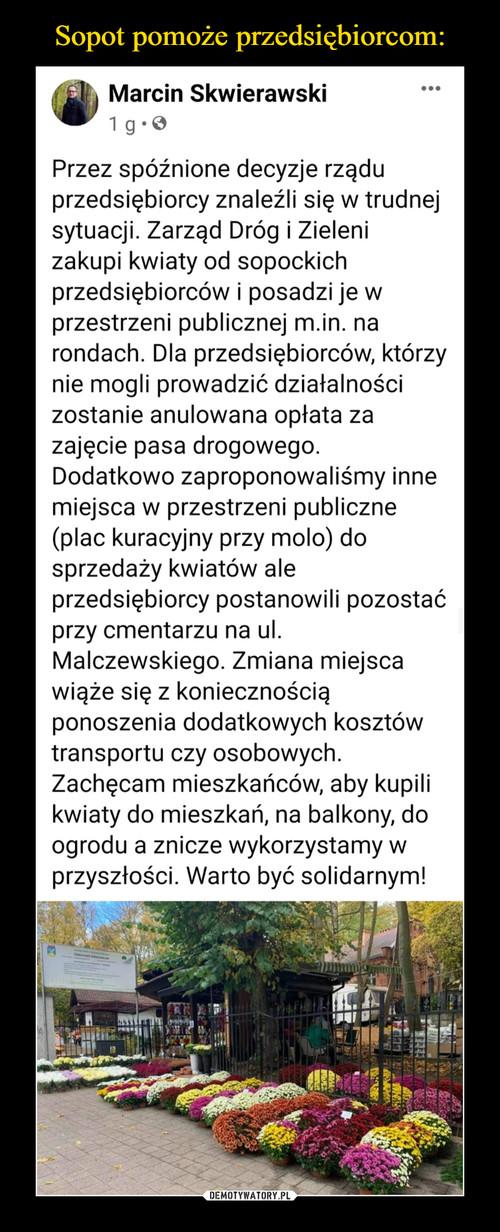 Sopot pomoże przedsiębiorcom: