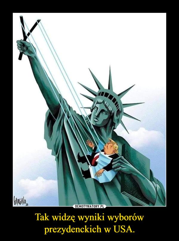 Tak widzę wyniki wyborów prezydenckich w USA. –
