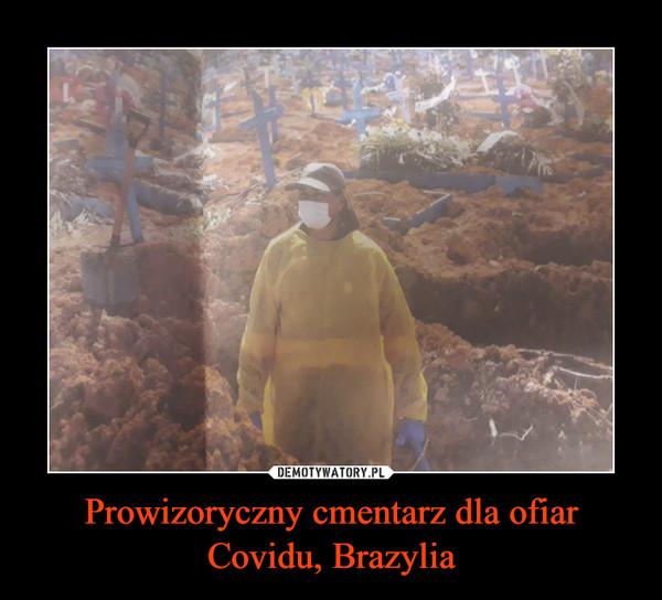 Prowizoryczny cmentarz dla ofiar Covidu, Brazylia –