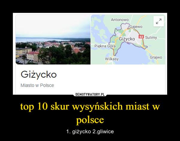 top 10 skur wysyńskich miast w polsce – 1. giżycko 2.gliwice