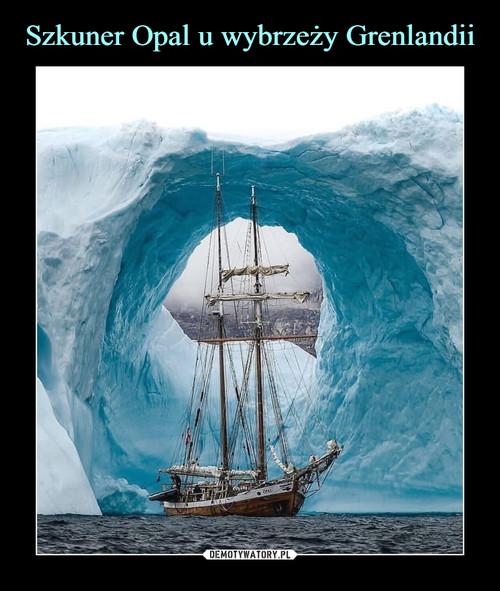 Szkuner Opal u wybrzeży Grenlandii