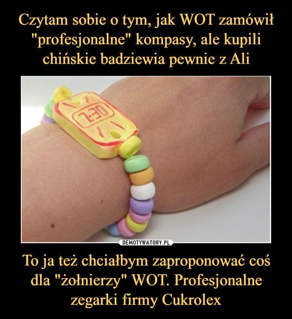 """To ja też chciałbym zaproponować coś dla """"żołnierzy"""" WOT. Profesjonalne zegarki firmy Cukrolex –"""